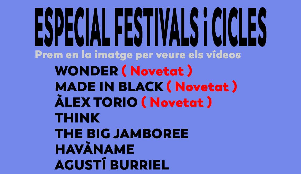 FESTIVALS I CICLES